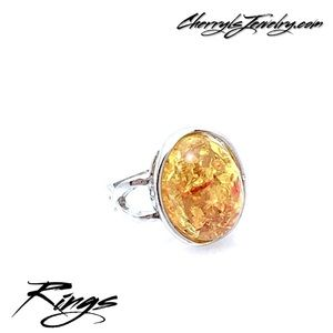 Jewelry - Faux Citrine Amber Ring Sz 5